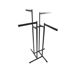 Garment Rack 4 Arm Straight Black
