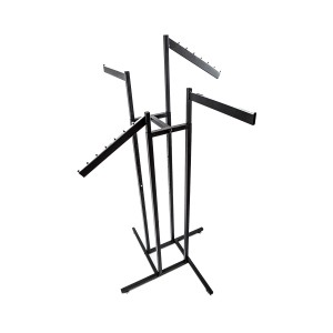 Black Tube Rack with 2 Slanted and 2 Straight Arms