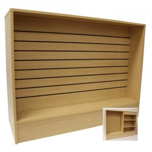 Slatwall Front Checkout Stand Maple