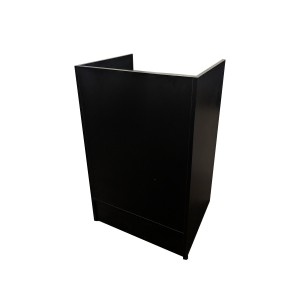 "Register Stand 24"" L x 20"" W x 38"" H Gloss Black  2"