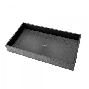 "2"" Stackable Black Plastic Tray"