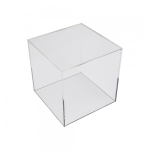 "Acrylic 5 Sided Cube 6"" x 6"" x 6"""