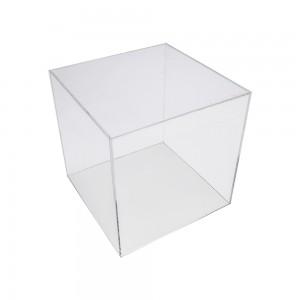 "Acrylic 5 Sided Cube 8"" x 8"" x 8"""