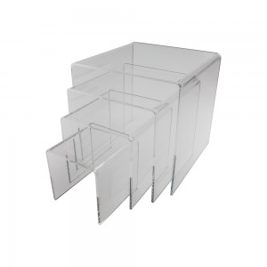Set of 4 Clear Acrylic Risers 1