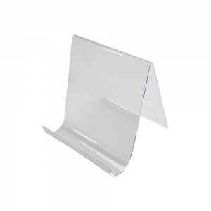 Clear Acrylic Easel With Lip 8""