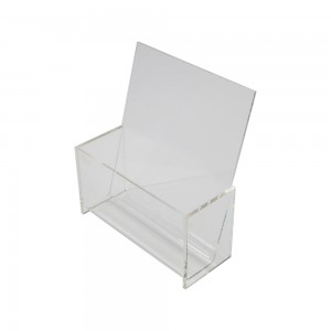 Counter Top Acrylic Single Pocket Literature Holder 8 1/4""