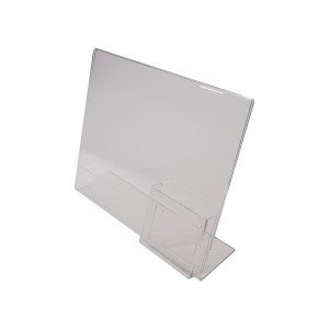 "Acrylic Slanted Sign Holder with 4"" Pocket"