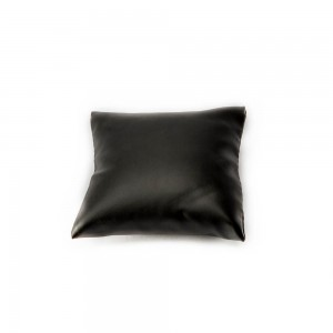 "4"" x 4"" Black Faux Leather Pillow Display"