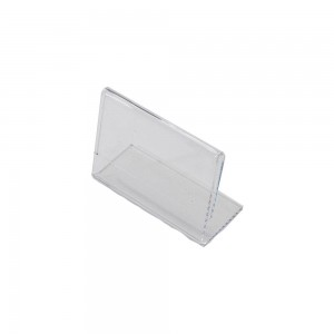 "3.5"" w x 2.5"" h"" Clear Acrylic Slantback Countertop Sign Holder"