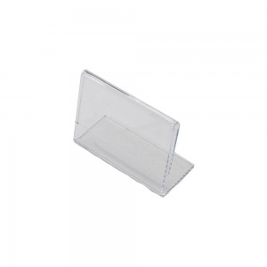 "5.5"" w x 3.5"" h Clear Acrylic Slantback Countertop Sign"