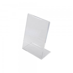 "5""w x 7""h Clear Acrylic Slantback Countertop Sign Holder"