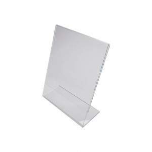 "8.5"" x 11"" Clear Acrylic Slightly Slanted Paper Sign Holder"