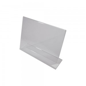 "Clear Acrylic Slightly Slanted Sign Holder for 8.5"" x 11"" Paper (Horizontal)"