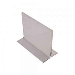 "5.5"" Acrylic Straight Back Counter Top Sign Holder (Horizontal)"