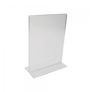 "11"" Acrylic Straight Back Counter Top Sign Holder (Vertical)"