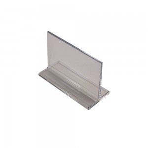 "3.75"" Acrylic Straight Back Counter Top Sign Holder"