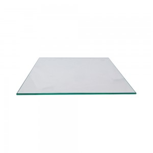 "Tempered Glass 10"" D x 10"" L x 3/16"""