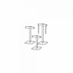 3 Piece Acrylic Earring Display T Stand