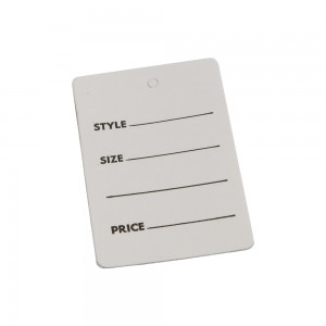 "2 7/8"" White Garment Tag"