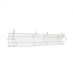 White Metal Slatgrid Shelf With Wings 4'