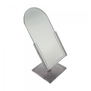 Acrylic Counter Top Dome Mirror 16""