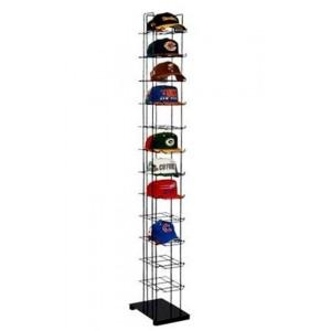Floor standing cap rack has 12 shelves, each shelf holds 12 baseball caps.  Sold as Each.