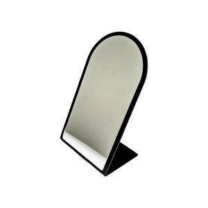 "Counter Top Acrylic Mirror w/ Black Trim 7"" x 11 1/2"" H"