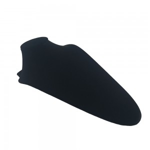Black Velvet  Elongated Slatwall Bust