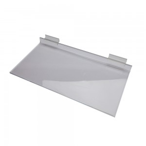 "Acrylic Slatwall Shelf 16"" x 8"""