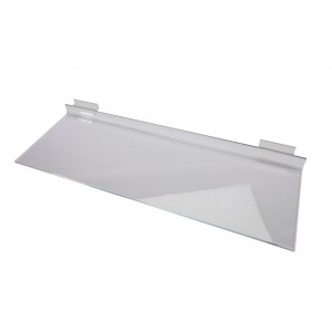 "24"" x 8"" Clear Acrylic Slatwall Shelf"