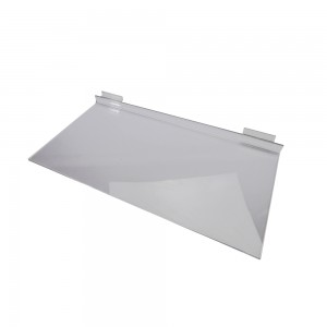 "Acrylic Slatwall Shelf 24"" x 12"""