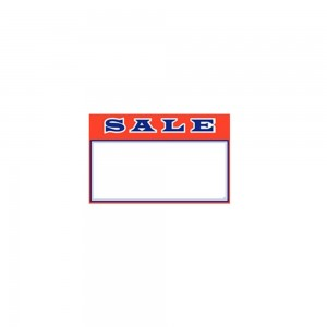 "3.5"" x 2.75"" Red Sale Card 100 Pack"