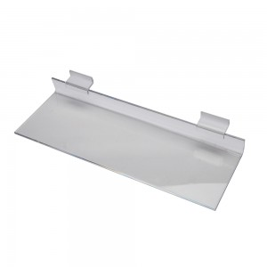 "Acrylic Slatwall Shelf 12"" x 4"""