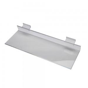 "Acrylic Slatwall Shelf 12"" x 4"""