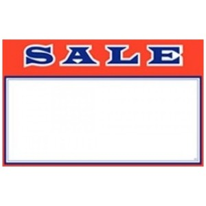 "3.5"" x 2.75"" Red Sale Card"