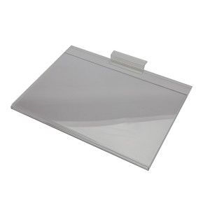 "Acrylic Slatwall Sign Holder 7"" x 11""  Horizontal Clear: 2036"