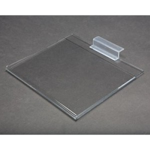 "8.5"" x 11"" Clear Acrylic Slatwall Gridwall Sign Holder 3  3"