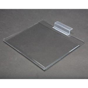 "8.5"" x 11"" Clear Acrylic Slatwall Gridwall Sign Holder 3  3"