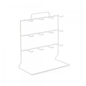 White 12 Peg Counter Wire Rack