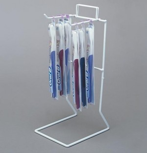 Counter Wire Rack 2 Peg White