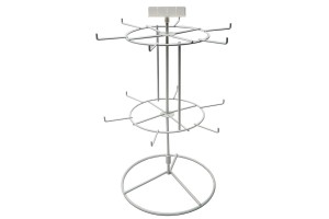 White 12 Peg - 2 Tier Counter Spinner