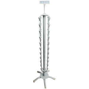White Metal Clip Rack 32""