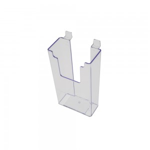 Acrylic Slatwall Stylized Brochure Holder 9""