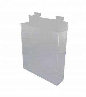 Acrylic Slatwall Literature Holder With Gaps 11 3/4""
