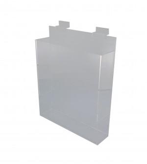 "Acrylic Slatwall Literature Holder With Gaps 11 3/4"""