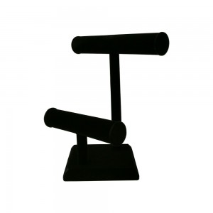 Black Velvet T-Bar 2 Tier Display 10.75""