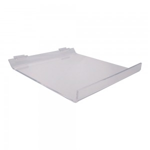 Acrylic Slatwall Slanted Shelf 12""