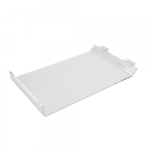 "Acrylic Slatwall Slanted Shelf with Lip 9""x13"""