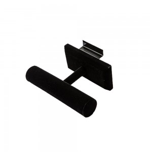 Slatwall Black Velvet T-Bar Display 7.5""