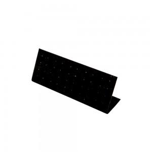 Table Top Earring Display 20 Pairs Black Velvet: 224-BK